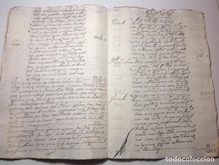 Manuscritos antiguos: 1724 Ciudad Rodrigo * extenso manuscrito 36 pag * herencia inventarios importante familia * Luis I - Foto 16 - 191112903