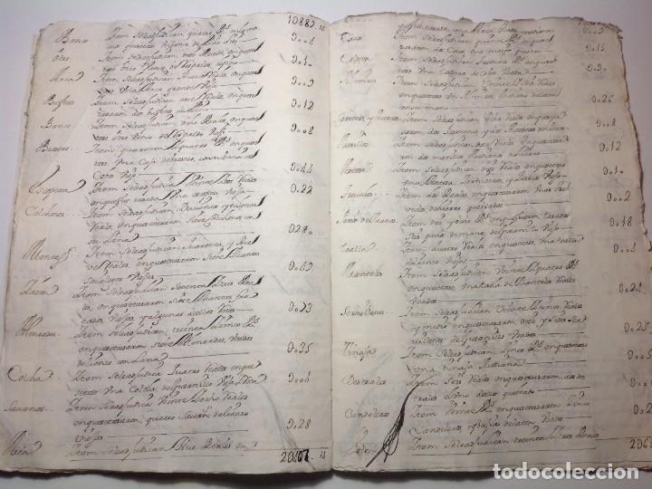 Manuscritos antiguos: 1724 Ciudad Rodrigo * extenso manuscrito 36 pag * herencia inventarios importante familia * Luis I - Foto 17 - 191112903