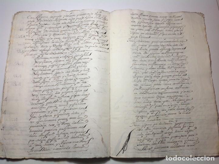 Manuscritos antiguos: 1724 Ciudad Rodrigo * extenso manuscrito 36 pag * herencia inventarios importante familia * Luis I - Foto 19 - 191112903