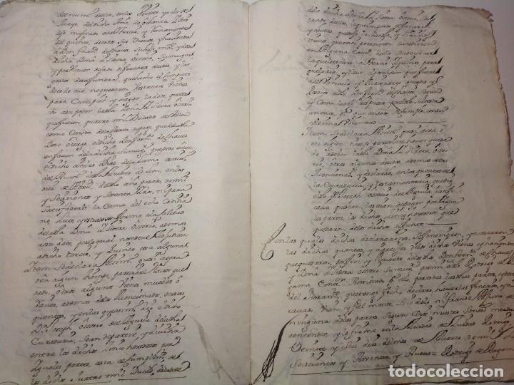 Manuscritos antiguos: 1724 Ciudad Rodrigo * extenso manuscrito 36 pag * herencia inventarios importante familia * Luis I - Foto 20 - 191112903