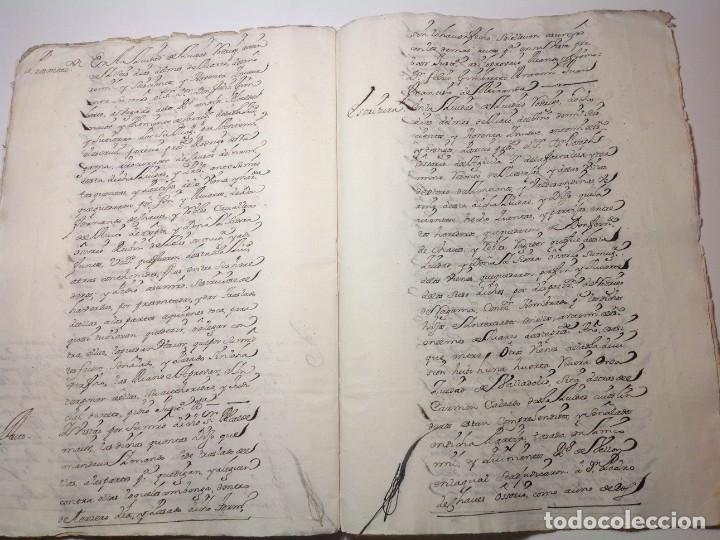 Manuscritos antiguos: 1724 Ciudad Rodrigo * extenso manuscrito 36 pag * herencia inventarios importante familia * Luis I - Foto 21 - 191112903