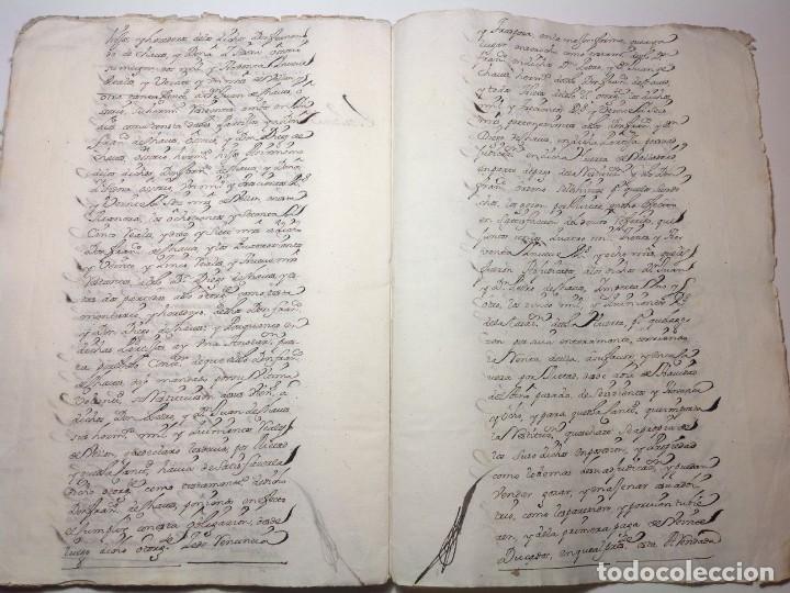 Manuscritos antiguos: 1724 Ciudad Rodrigo * extenso manuscrito 36 pag * herencia inventarios importante familia * Luis I - Foto 22 - 191112903