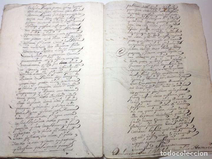 Manuscritos antiguos: 1724 Ciudad Rodrigo * extenso manuscrito 36 pag * herencia inventarios importante familia * Luis I - Foto 23 - 191112903