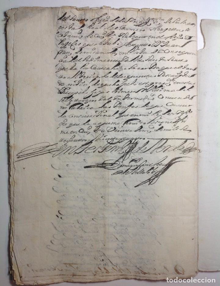 Manuscritos antiguos: 1724 Ciudad Rodrigo * extenso manuscrito 36 pag * herencia inventarios importante familia * Luis I - Foto 24 - 191112903