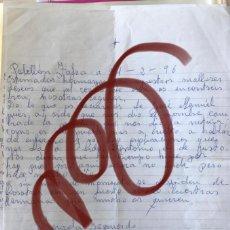 Manuscritos antiguos: CARTAS MANUSCRITAS HERMANAS PUERTO HURRACO A SUS HERMANOS. Lote 191215697