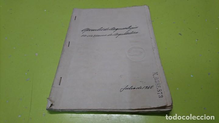 Manuscritos antiguos: CUADERNO MANUSCRITO SELLADO 1948 A IDENTIFICAR - Foto 1 - 191254048