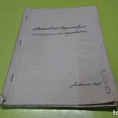 Manuscritos antiguos: CUADERNO MANUSCRITO SELLADO 1948 A IDENTIFICAR. Lote 191254048
