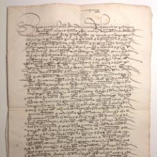 Manuscritos antiguos: VILLALON VALLADOLID * AÑO 1515 * MANUSCRITO * 6 PAGINAS. Lote 191395231