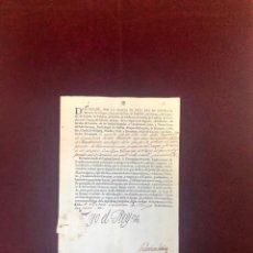 Manuscritos antiguos: PATENTE DE CAPITÁN DE CARABINEROS EN EL REG° DE CALATRAVA. FIRMA Y SELLO DEL REY FELIPE V - 1723. Lote 191440641