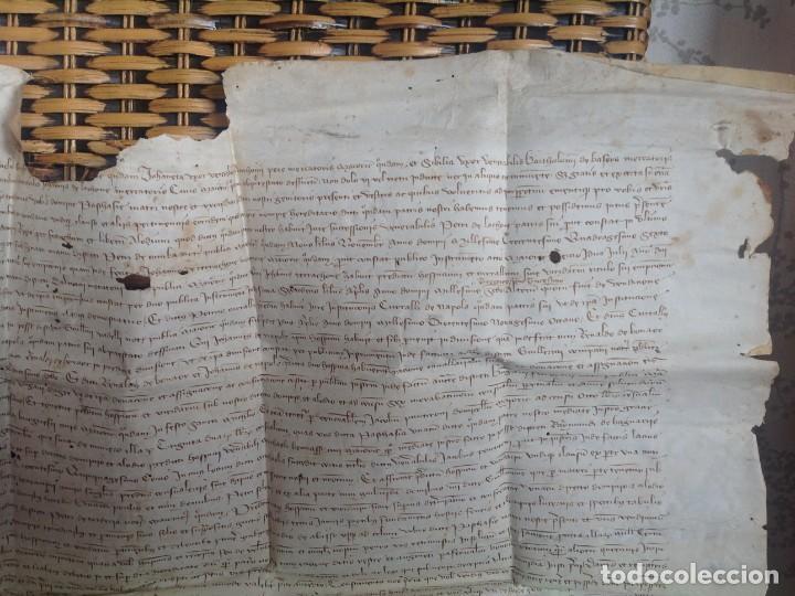 Manuscritos antiguos: 1407 PALMA mallorca * pergamino conquista NOTARIOS DE 1230 Y 1232 * CASAS DE huespedes en Drassanes - Foto 6 - 191450560