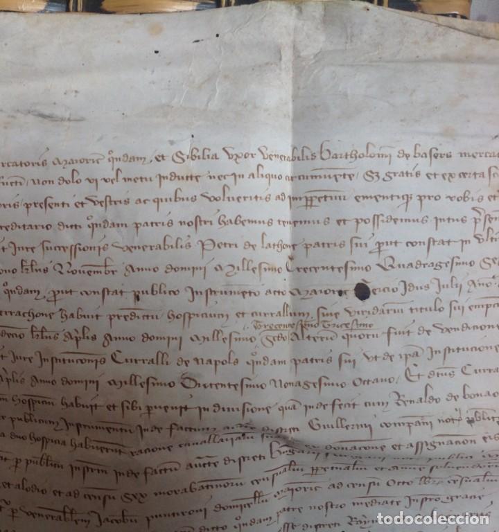 Manuscritos antiguos: 1407 PALMA mallorca * pergamino conquista NOTARIOS DE 1230 Y 1232 * CASAS DE huespedes en Drassanes - Foto 7 - 191450560