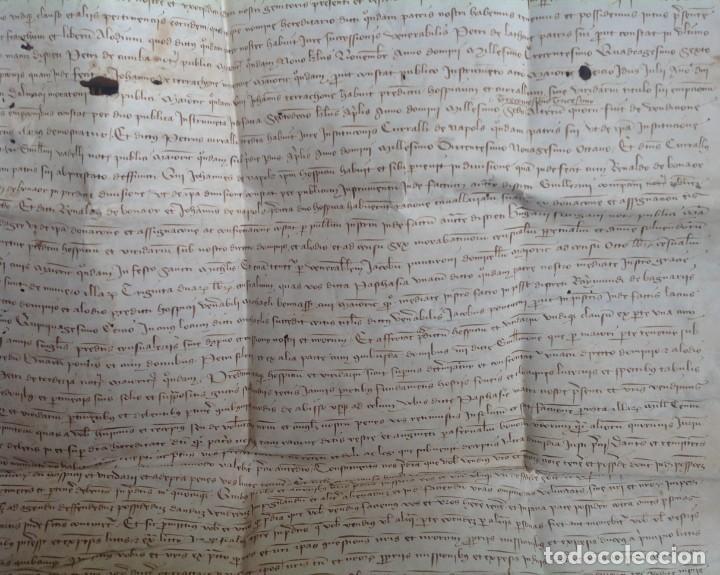 Manuscritos antiguos: 1407 PALMA mallorca * pergamino conquista NOTARIOS DE 1230 Y 1232 * CASAS DE huespedes en Drassanes - Foto 9 - 191450560