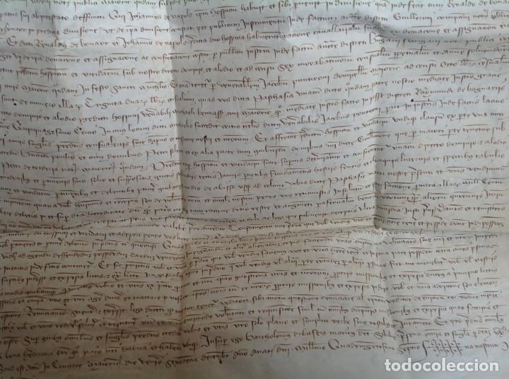 Manuscritos antiguos: 1407 PALMA mallorca * pergamino conquista NOTARIOS DE 1230 Y 1232 * CASAS DE huespedes en Drassanes - Foto 11 - 191450560