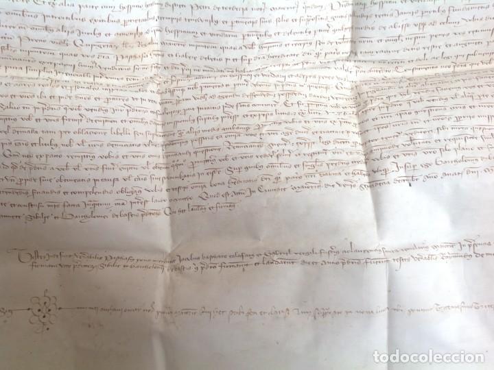 Manuscritos antiguos: 1407 PALMA mallorca * pergamino conquista NOTARIOS DE 1230 Y 1232 * CASAS DE huespedes en Drassanes - Foto 13 - 191450560