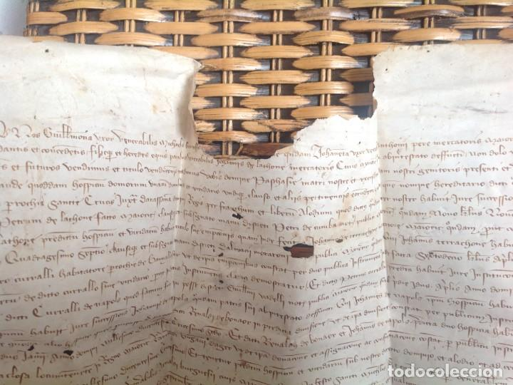 Manuscritos antiguos: 1407 PALMA mallorca * pergamino conquista NOTARIOS DE 1230 Y 1232 * CASAS DE huespedes en Drassanes - Foto 17 - 191450560