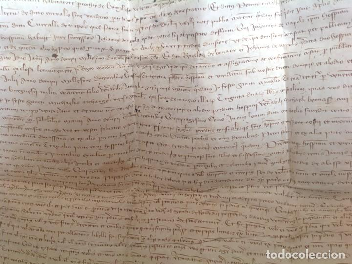 Manuscritos antiguos: 1407 PALMA mallorca * pergamino conquista NOTARIOS DE 1230 Y 1232 * CASAS DE huespedes en Drassanes - Foto 19 - 191450560