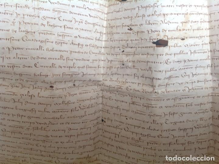 Manuscritos antiguos: 1407 PALMA mallorca * pergamino conquista NOTARIOS DE 1230 Y 1232 * CASAS DE huespedes en Drassanes - Foto 20 - 191450560