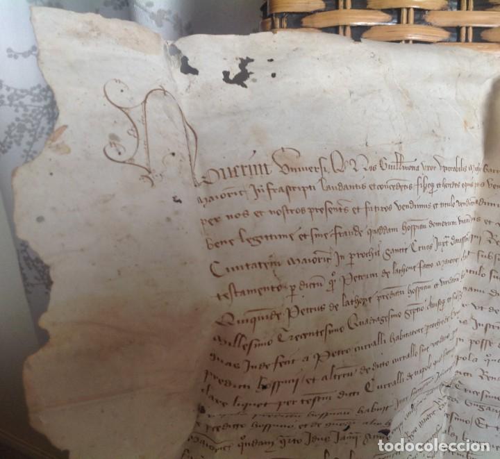Manuscritos antiguos: 1407 PALMA mallorca * pergamino conquista NOTARIOS DE 1230 Y 1232 * CASAS DE huespedes en Drassanes - Foto 27 - 191450560