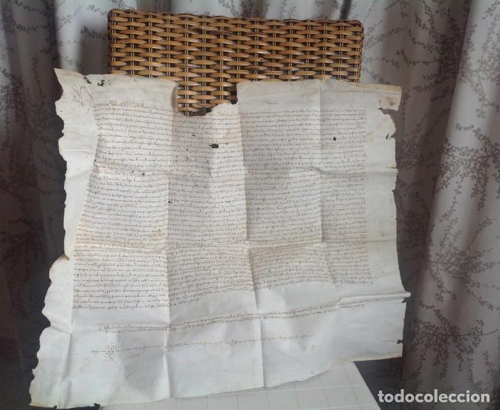 Manuscritos antiguos: 1407 PALMA mallorca * pergamino conquista NOTARIOS DE 1230 Y 1232 * CASAS DE huespedes en Drassanes - Foto 38 - 191450560