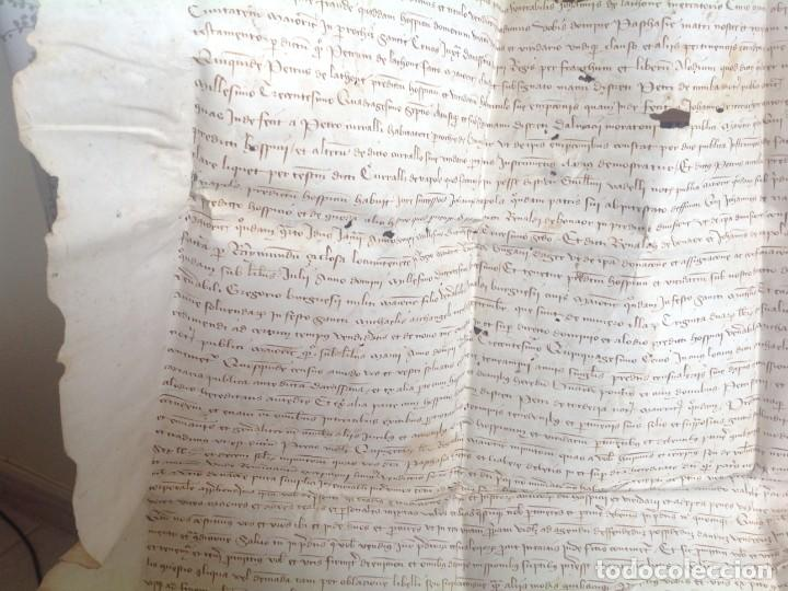 Manuscritos antiguos: 1407 PALMA mallorca * pergamino conquista NOTARIOS DE 1230 Y 1232 * CASAS DE huespedes en Drassanes - Foto 40 - 191450560