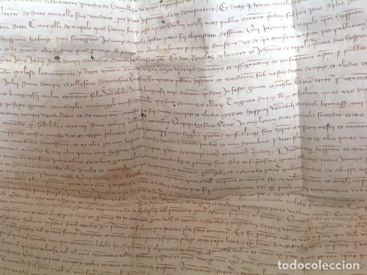 Manuscritos antiguos: 1407 PALMA mallorca * pergamino conquista NOTARIOS DE 1230 Y 1232 * CASAS DE huespedes en Drassanes - Foto 41 - 191450560