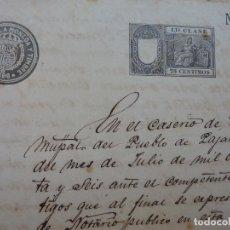 Manuscritos antiguos: ESCRITURA DE ADJUDICACIÓN. MANUSCRITA. TOTO MUNICIPIO DE PÁJARA. FUERTEVENTURA. AÑO 1896. Lote 191462523