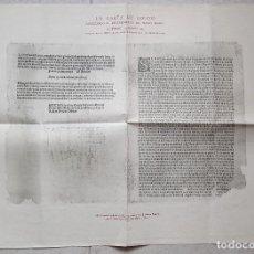 Manuscritos antiguos: LA CARTA DE COLÓN ANUNCIANDO EL DESCUBRIMIENTO DEL NUEVO MUNDO. 1943. Lote 191515557