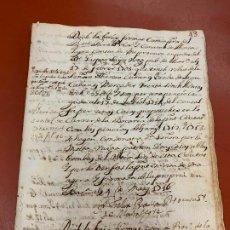 Manuscritos antiguos: EXTRAORDINARIA LIBRETA O LEGAJO ANTIGUA MANUSCRITA, AÑO 1700 S.XVIII 40 PAGINAS,24 DE ELLAS ESCRITAS. Lote 191614318
