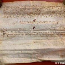 Manuscritos antiguos: ANTIGUO PERGAMINO, ANCIENT PARCHMENT , DE PIEL, MANUSCRITO. VER FOTOS. Lote 191616773