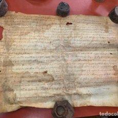 Manuscritos antiguos: ANTIGUO PERGAMINO, ANCIENT PARCHMENT ,DE PIEL, MANUSCRITO. VER FOTOS. Lote 191622088