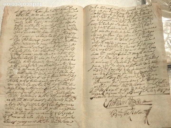 Manuscritos antiguos: MANUSCRITO AÑO 1700. SELLO SEGUNDO. 68 MARAVEDIS. PAPEL TIMBRADO. FIRMAS. - Foto 5 - 191626756