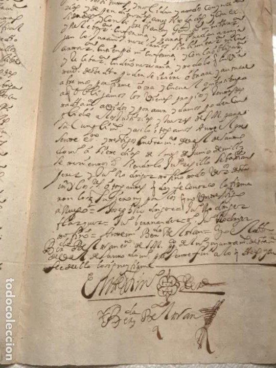 Manuscritos antiguos: MANUSCRITO AÑO 1700. SELLO SEGUNDO. 68 MARAVEDIS. PAPEL TIMBRADO. FIRMAS. - Foto 7 - 191626756