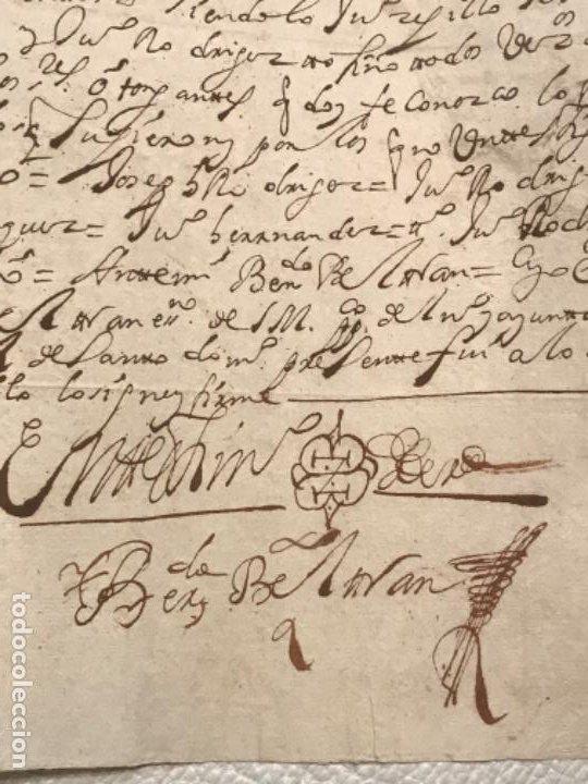 Manuscritos antiguos: MANUSCRITO AÑO 1700. SELLO SEGUNDO. 68 MARAVEDIS. PAPEL TIMBRADO. FIRMAS. - Foto 8 - 191626756