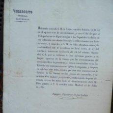 Manuscritos antiguos: 3 MANUSCRITOS AÑO 1851 PLEGARIAS POR EL FELIZ ALUMBRAMIENTO DE LA REINA. Lote 191627297