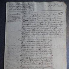 Manuscritos antiguos: MANUSCRITO AÑO 1598 SAHAGÚN LEÓN CARTA DE PAGO CONVENTO SAN FRANCISCO BONITA. Lote 191657347