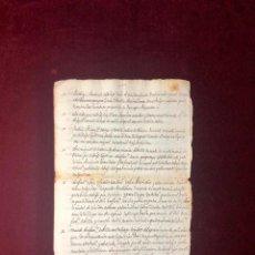 Manuscritos antiguos: DOCUMENTO SOBRE LOS ÁLVAREZ DE ARCE, DE SEVILLA Y LA SUCESIÓN EN UN MAYORAZGO. Lote 191839100