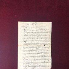 Manuscritos antiguos: DOCUMENTO SOBRE PLEITO ENTRE TARACENA (GUADALAJARA) Y TÓRTOLA DE HENARES. SOBRE 1727. Lote 191894993