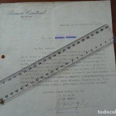 Manuscritos antiguos: GUERRA CIVIL, 24 FEBRERO 1937, REQUERIMIENTO BANCO CENTRAL DEPÓSITO ORO BANCO ESPAÑA. Lote 192045548
