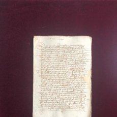 Manuscritos antiguos: CARTA DE VENTA DE UN PARRAL EN LA RIBERA DEL RÍO JERTE, PLASENCIA (CÁCERES) 1537. Lote 192347372