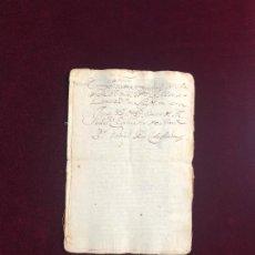 Manuscritos antiguos: EJECUCIÓN CONTRA UNOS VECINOS DE MORA (TOLEDO) POR DEUDAS. 1649. Lote 192414851