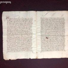 Manuscritos antiguos: EJECUTORIA DEL EMPERADOR CARLOS V SOBRE UN PLEITO EN PLASENCIA (CÁCERES). AÑO 1533. Lote 192480935