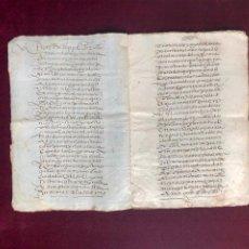 Manuscritos antiguos: EJECUTORIA DE FELIPE II EN UN PLEITO ENTRE DOS VECINOS DE PLASENCIA (CÁCERES) 1591. Lote 192541408