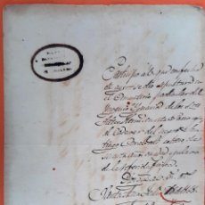 Manuscritos antiguos: DOCUMENTO DE ESCLAVOS CERTIFICADO DE DEFUNCION DE UN MORENO CUBA 1868 ORIGINAL D13 11. Lote 192564111