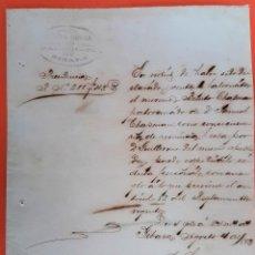 Manuscritos antiguos: DOCUMENTO DE ESCLAVOS EXCENSION EXENTO DE PATRONATO CUBA 1883 ORIGINAL D13 14. Lote 192564818