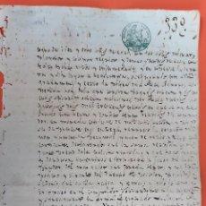 Manuscritos antiguos: DOCUMENTO DE ESCLAVOS VENTA DE UN ESCLAVO A FALTA DE FECHA CUBA ORIGINAL D13 18. Lote 192566008