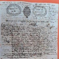 Manoscritti antichi: DOCUMENTO DE ESCLAVOS VENTA DE VARIOS ESCLAVOS INCOMPLETO CUBA 1833 ORIGINAL D13 19. Lote 192566247
