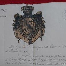 Manuscritos antiguos: DOCUMENTO DE 1905 GOBIERNO CIVIL DE BARCELONA. ALFONSO XIII. DUQUE DE BIVONA. HIJOS J. JOVER Y SERRA. Lote 192594165