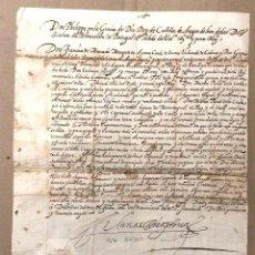Manuscritos antiguos: NOMBRAMIENTO CAPITAN DE A CABALLO DE LOS LUGARES DE MASAMAGRELL, EL PUIG Y LA CRUZ VALENCIA 1590. Lote 192801385