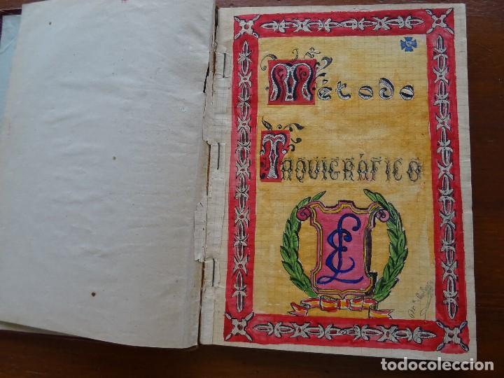Manuscritos antiguos: Taquigrafía, Método taquigráfico - Foto 3 - 192914181