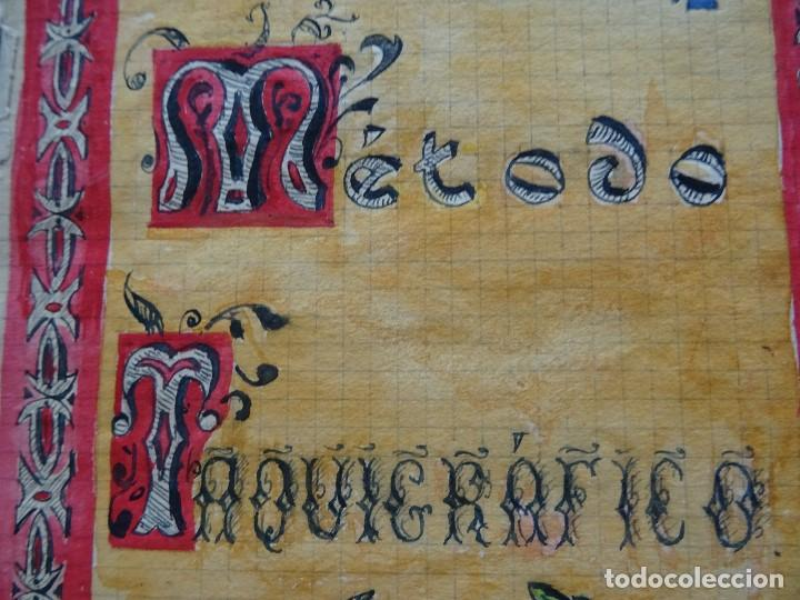 Manuscritos antiguos: Taquigrafía, Método taquigráfico - Foto 4 - 192914181